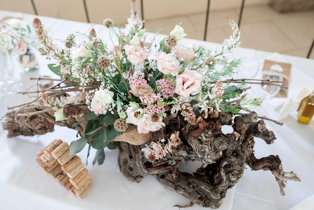 décorations de la table des mariés