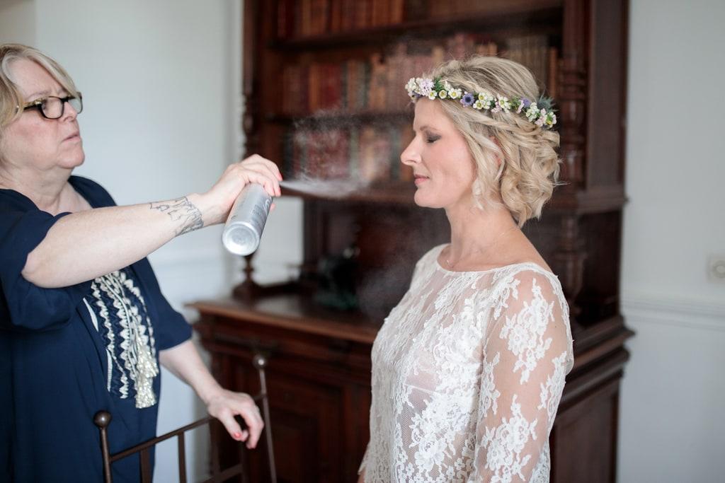 coiffure de la mariée