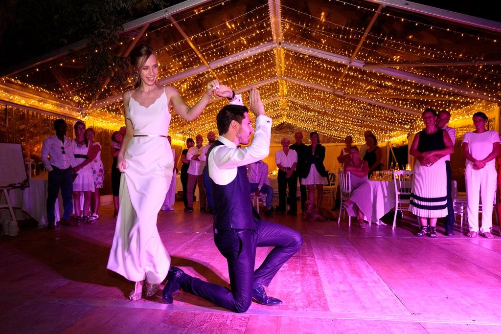 ouverture du bal par les mariés