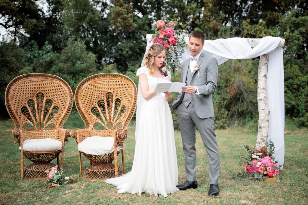 discours des mariés durant la cérémonie laïque